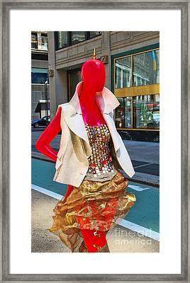 Sidewalk Catwalk 4 A Framed Print by Allen Beatty