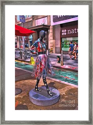 Sidewalk Catwalk 5 Framed Print by Allen Beatty