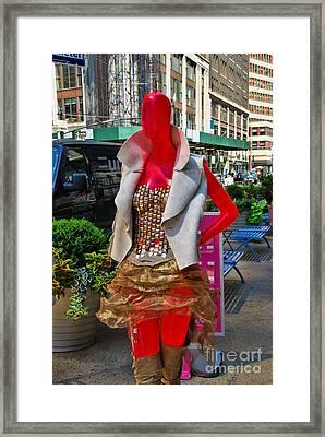 Sidewalk Catwalk 9 Framed Print by Allen Beatty