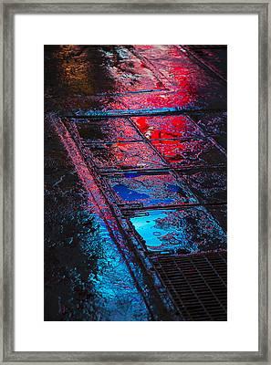 Sidewalk Reflections Framed Print by Garry Gay