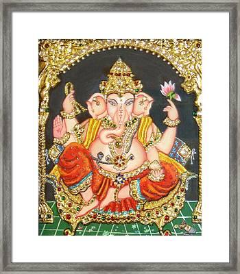Sidha Ganapathi Framed Print by Jayashree
