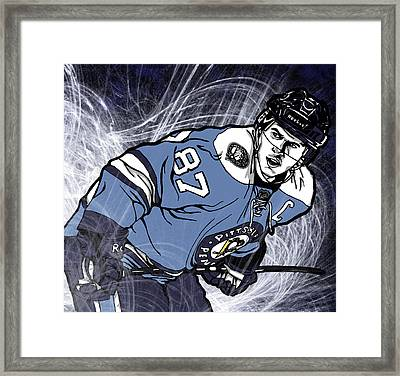 Sidney Crosby Framed Print by Nate Gandt