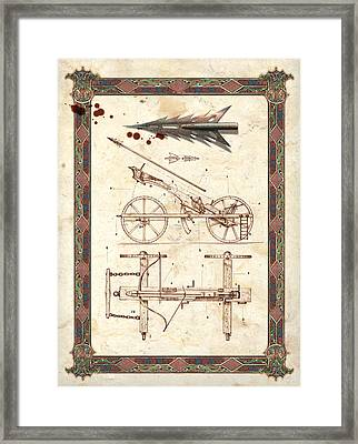 Siege Crossbow Framed Print by Garry Walton