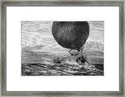 Siege Of Paris Balloon Flight Framed Print by Science Photo Library