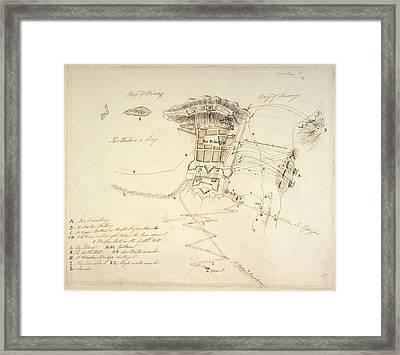 Siege Of San Sebastian Framed Print by British Library