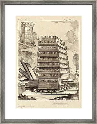 Siege Tower Framed Print by Images Of The Ancient World/new York Public Library