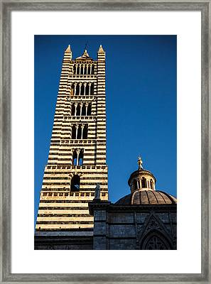 Siena Cathedral Bell Tower Tuscany Framed Print by Mathew Lodge