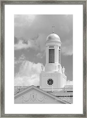Siena College Siena Hall Cupola Framed Print by University Icons