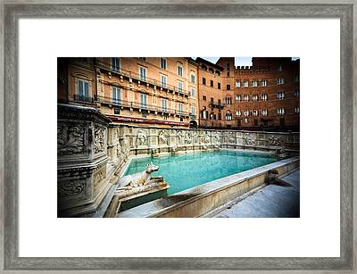 Siena Fonte Gaia Tuscany Italy Framed Print by Mathew Lodge