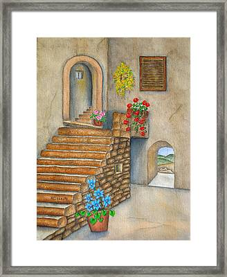 Siena Framed Print by Pamela Allegretto