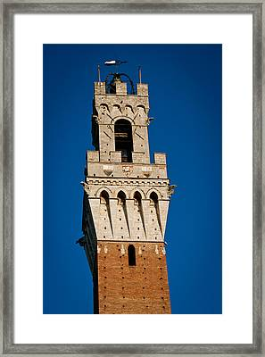 Siena Torre Mangia Tuscany Italy Framed Print by Mathew Lodge