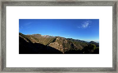 Sierra De Enmedia Mountains,north East Framed Print by Panoramic Images