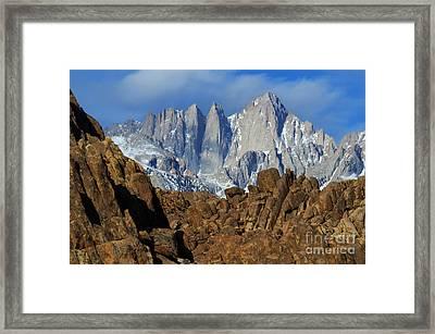 Sierra Nevada California Framed Print by Bob Christopher
