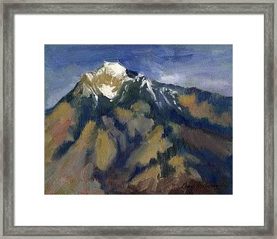 Sierra Nevadas Mount Tom Framed Print by Diane McClary