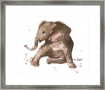Siesta Sophie Elephant Framed Print by Alison Fennell