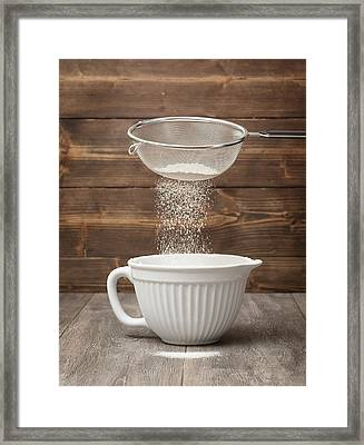 Sifting Flour Framed Print by Amanda And Christopher Elwell