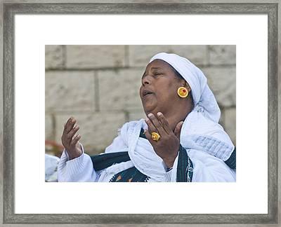 Sigd In Jerusalem Framed Print by Kobby Dagan