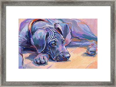 Sigh Framed Print by Kimberly Santini