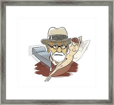 Sigmund Freud Framed Print by Harald Ritsch