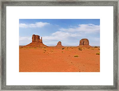 Signatures Of Monument Valley Framed Print by Christine Till