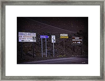 Signs Of A Crater - Sicily Framed Print by Madeline Ellis