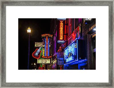 Signs Of Music Row Nashville Framed Print by John McGraw
