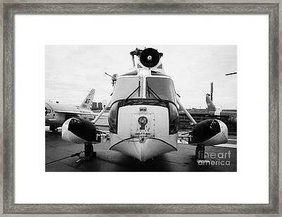 Sikorsky Hh 52 Hh52 Sea Guardian Helicopter On Display Framed Print by Joe Fox