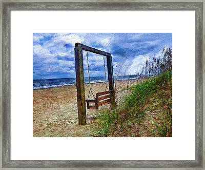 Silence Of The Waves Framed Print by Cary Shapiro