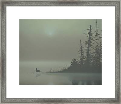 Silence Framed Print by Peter Mathios