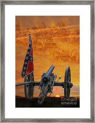 Silent Fields Of Gettysburg Framed Print by Randy Steele