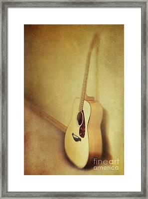 Silent Guitar Framed Print by Priska Wettstein