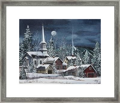 Silent Night Framed Print by Debbi Wetzel