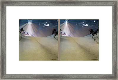 Silent Night - Gently Cross Your Eyes And Focus On The Middle Image Framed Print by Brian Wallace