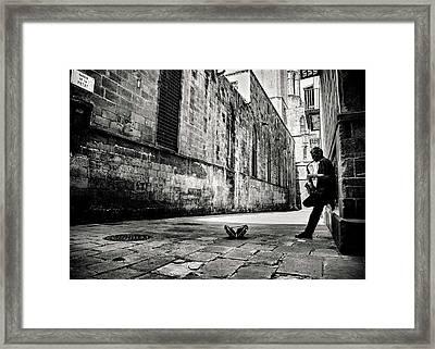 Silent Street Framed Print by Gertjan Van Geerenstein