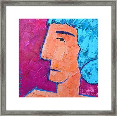 Silent Woman Framed Print by Ana Maria Edulescu