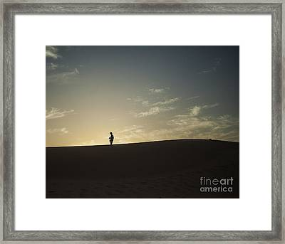 Silhouette In The Sahara Framed Print by Patricia Hofmeester
