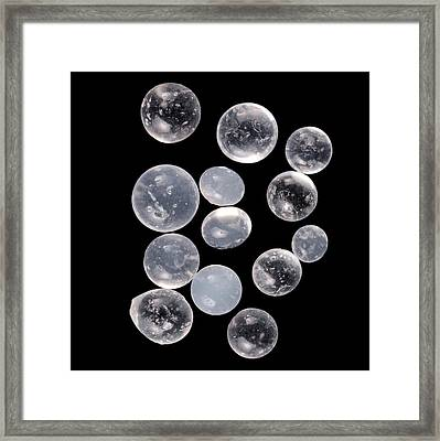 Silica Gels Balls Framed Print by Science Photo Library