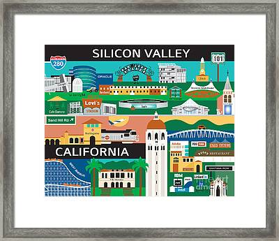 Silicon Valley Framed Print by Karen Young