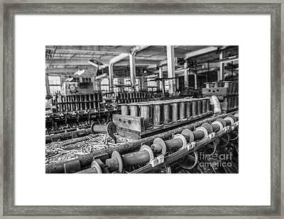 Silk Mill Floor Framed Print by Terry Rowe