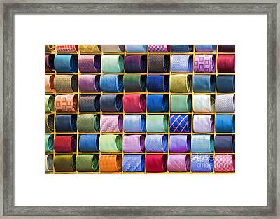 Silk Neckties Framed Print by Sheldon Kralstein