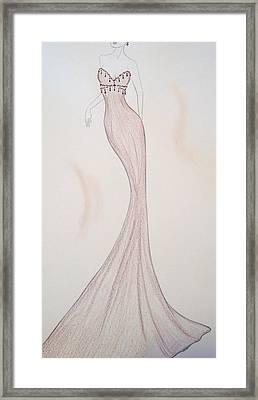 Silken Mink Framed Print by Christine Corretti
