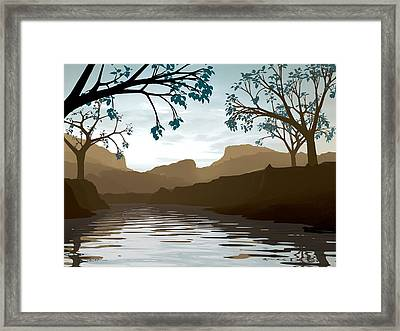 Silkscreen Framed Print by Cynthia Decker