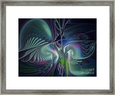 Silky Nights-fractal Design Framed Print by Karin Kuhlmann