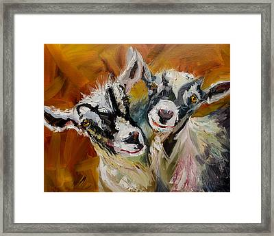 Silly Kids Framed Print by Diane Whitehead
