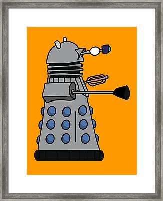Silly Robot Framed Print by Jera Sky