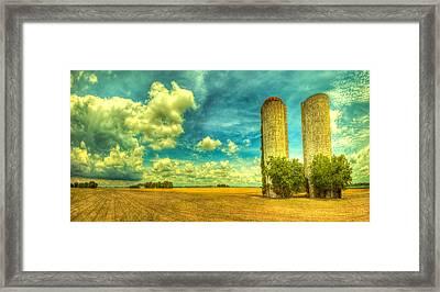 Silos Framed Print by  Caleb McGinn