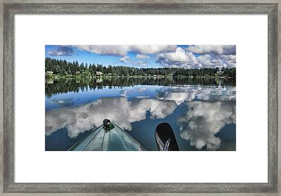 Siltcoos Morning View 1 Framed Print by Lara Ellis