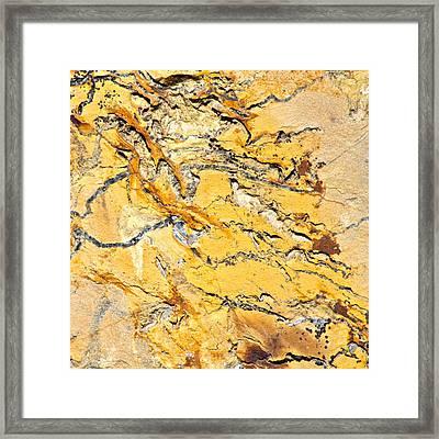 Siltstone Abstract Framed Print by Karon Melillo DeVega