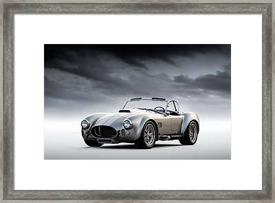 Silver Ac Cobra Framed Print by Douglas Pittman