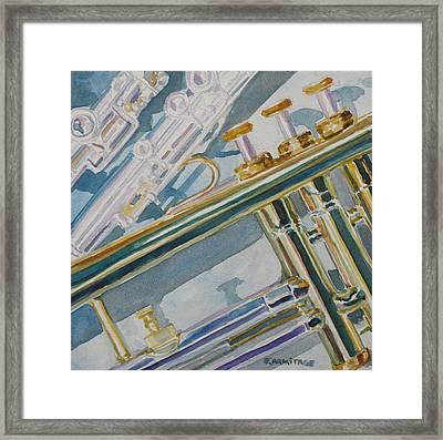 Silver And Brass Keys Framed Print by Jenny Armitage
